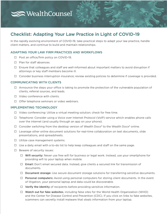 Adapt your law practice checklist thumbnail