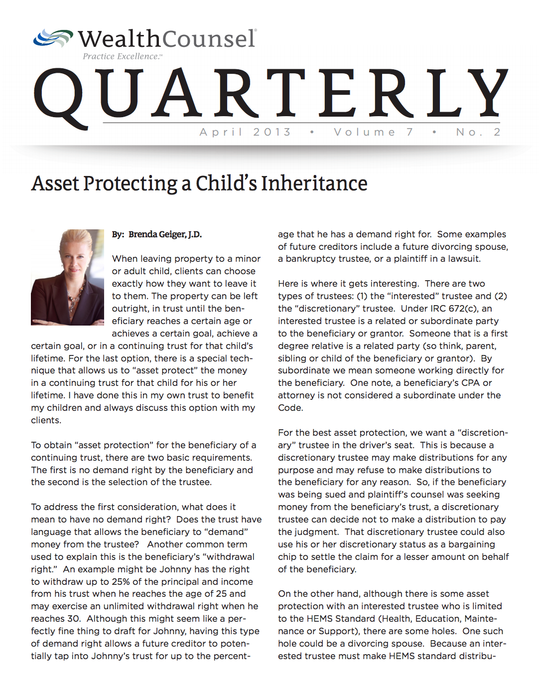April-2013-WCQ-A-Childs-Inheritance-thumbnail