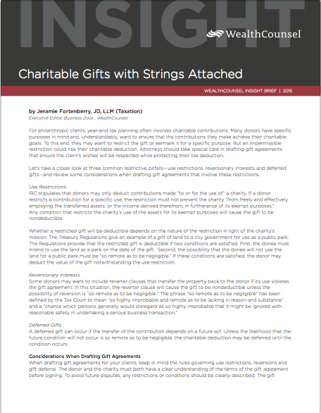 Ib  Charitable Gifts With Strings Attached Thumbnail