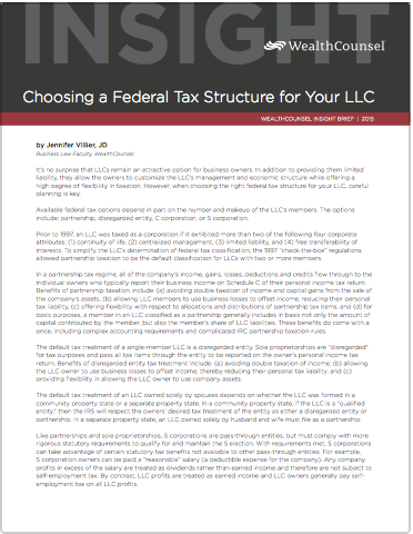 Ib  Federal  Tax  Structure  Llc Thumbail