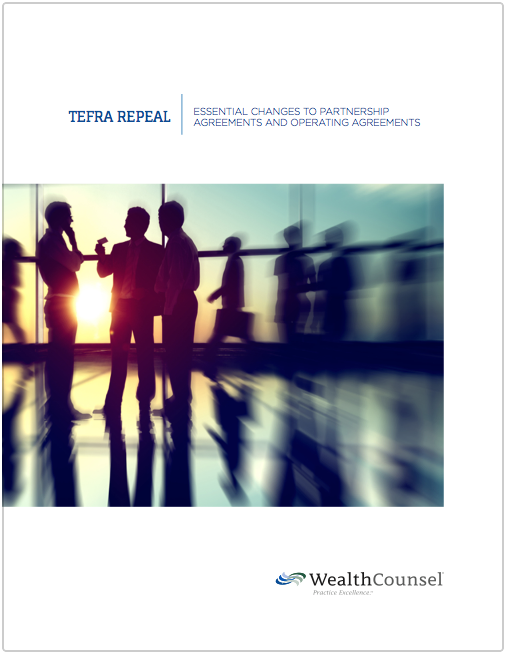 tefra repeal essential changes to partnership agreements and operating agreements