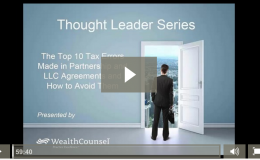 Tls  Top 10  Tax  Mistakes In  Partnership  Llc  Agreements Thumbnail