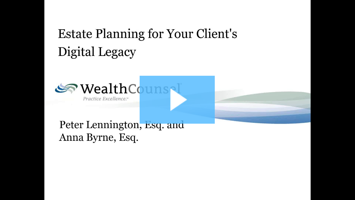 Digital Asset Protection Planning Thumbnail